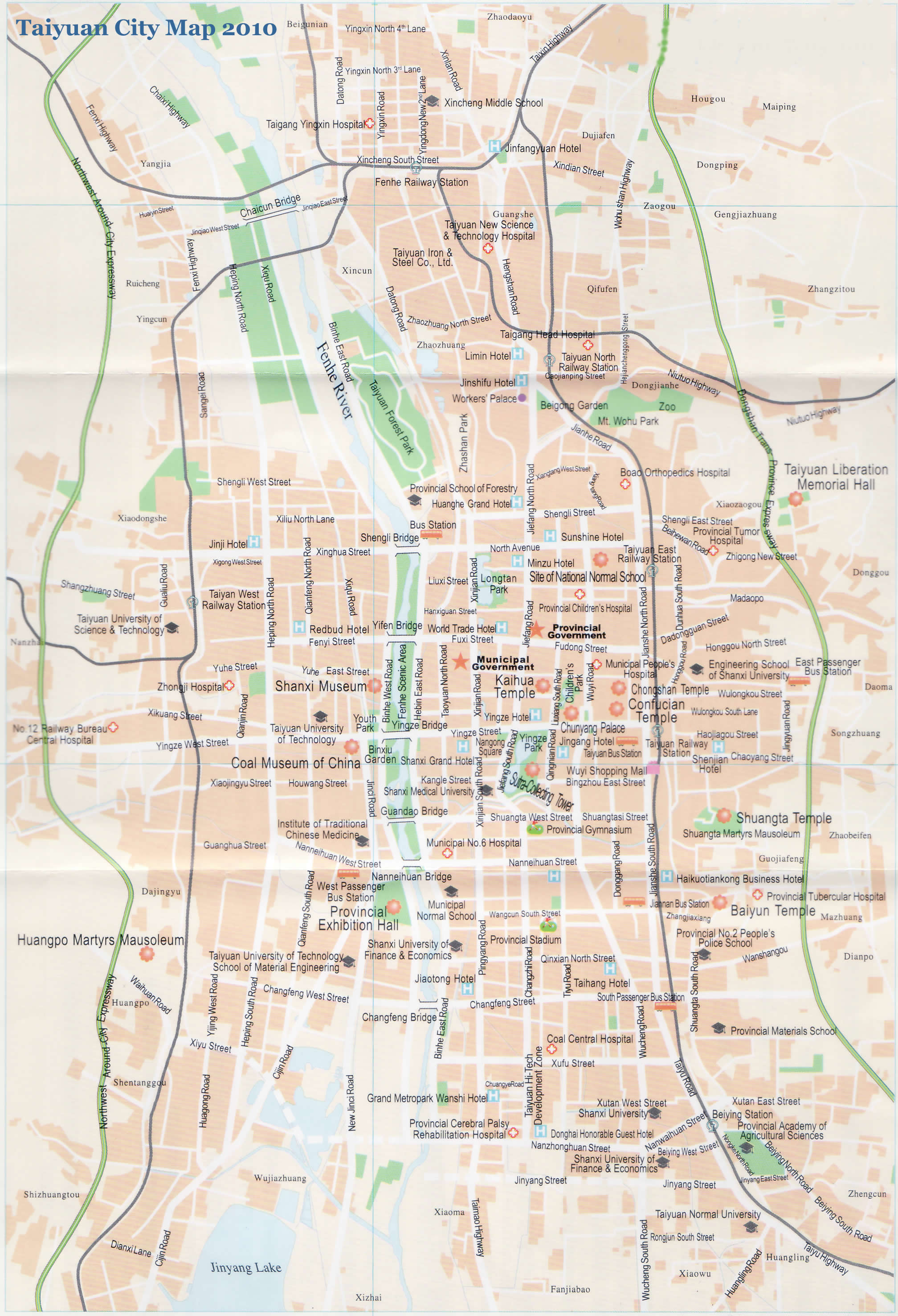 Shanxi China Map.City Guide Taiyuan Municipality Shanxi China