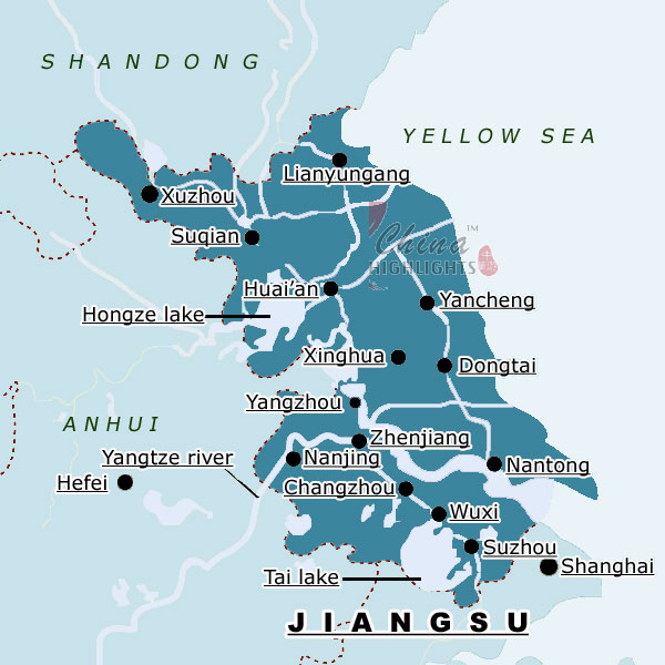Map of Jiangsu Province