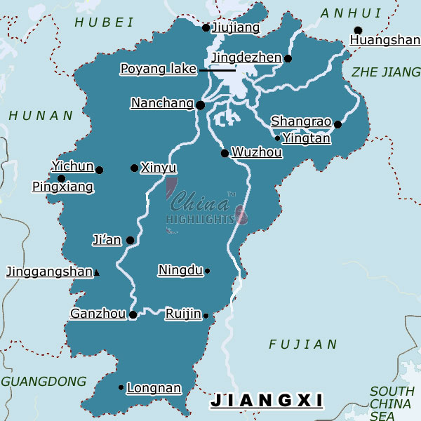 Jiangxia Provinciallevel Division In East China - Jingdezhen map
