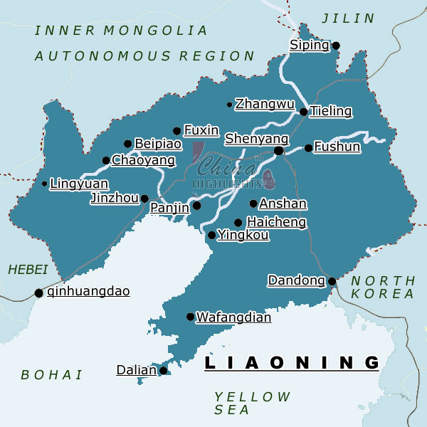 Map of Liaoning Province