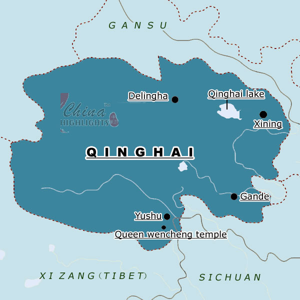 Map of Qinghai Province