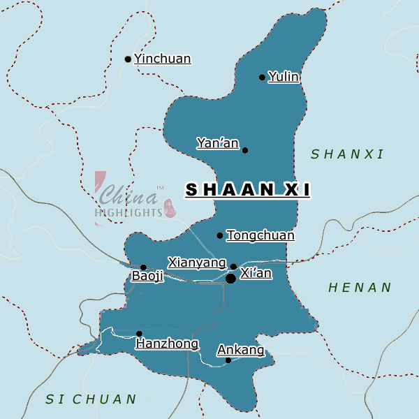 Map of Shaanxi Province