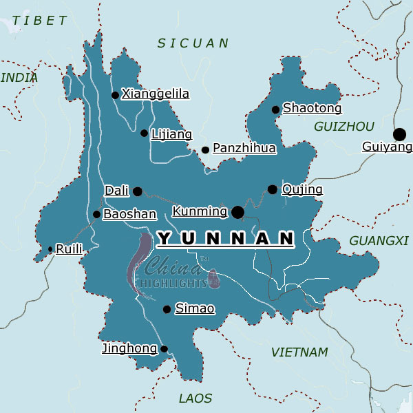 Map of Yunnan Province